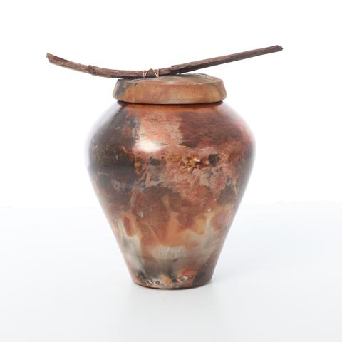 sea and earth lidded jar by dan devine